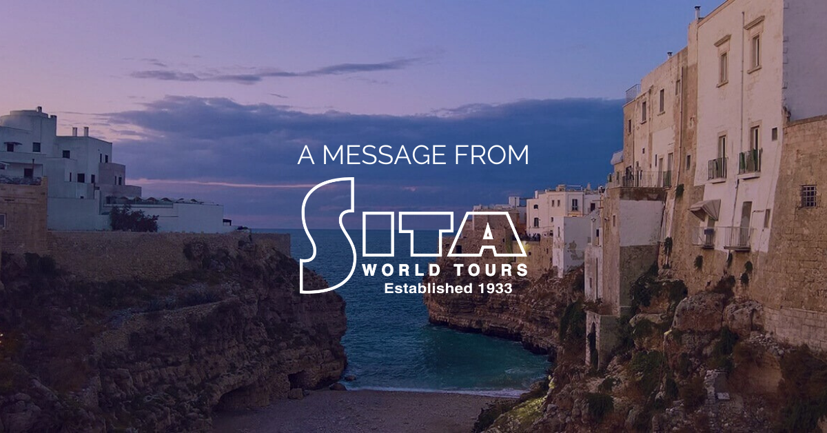 A Message from SITA World Tours Regarding COVID-19