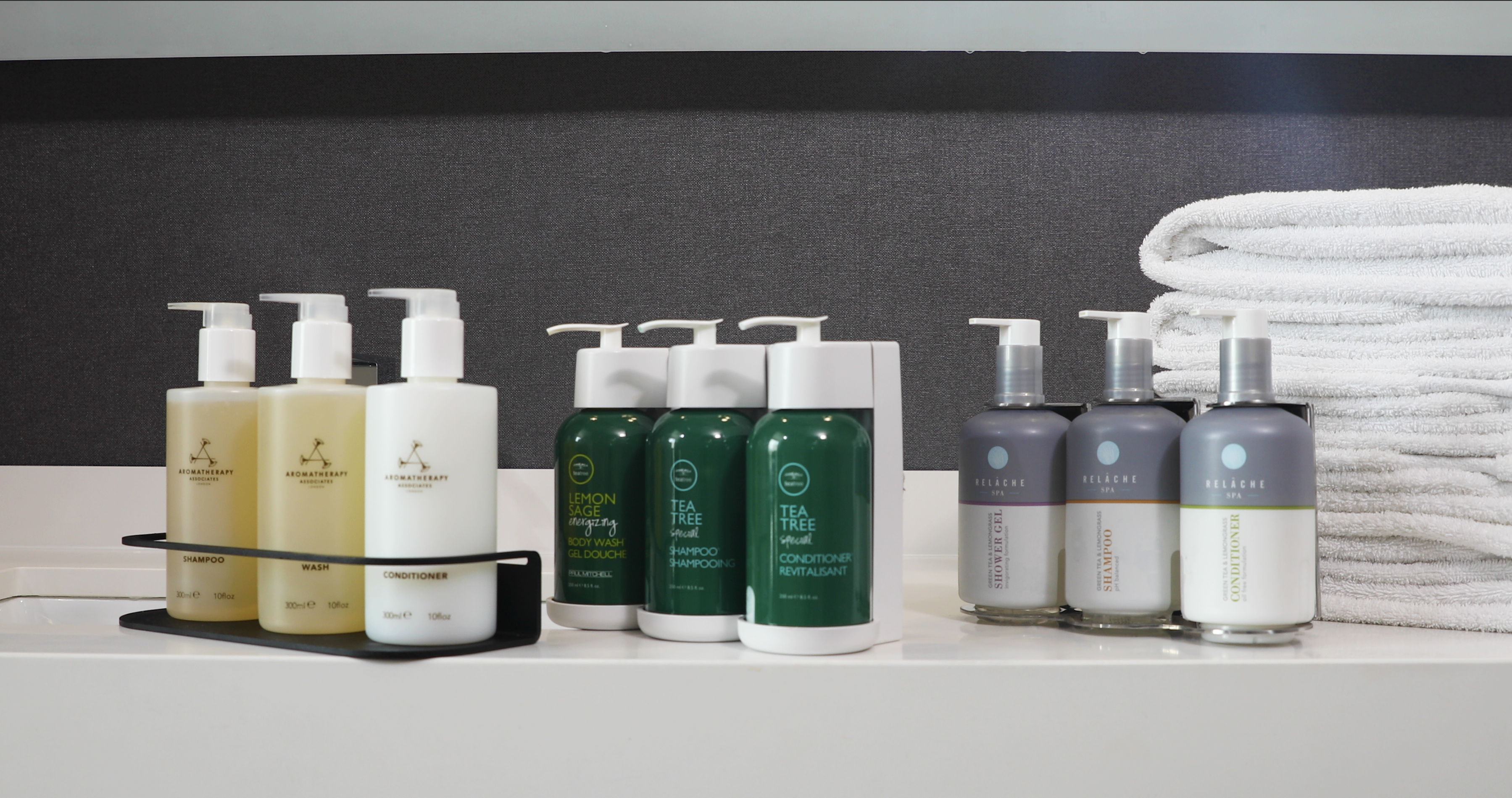 To reduce single-use plastic, Marriott International hotels across the globe are continuing to move to larger bottles of shampoo, conditioner and body wash in guestroom showers.