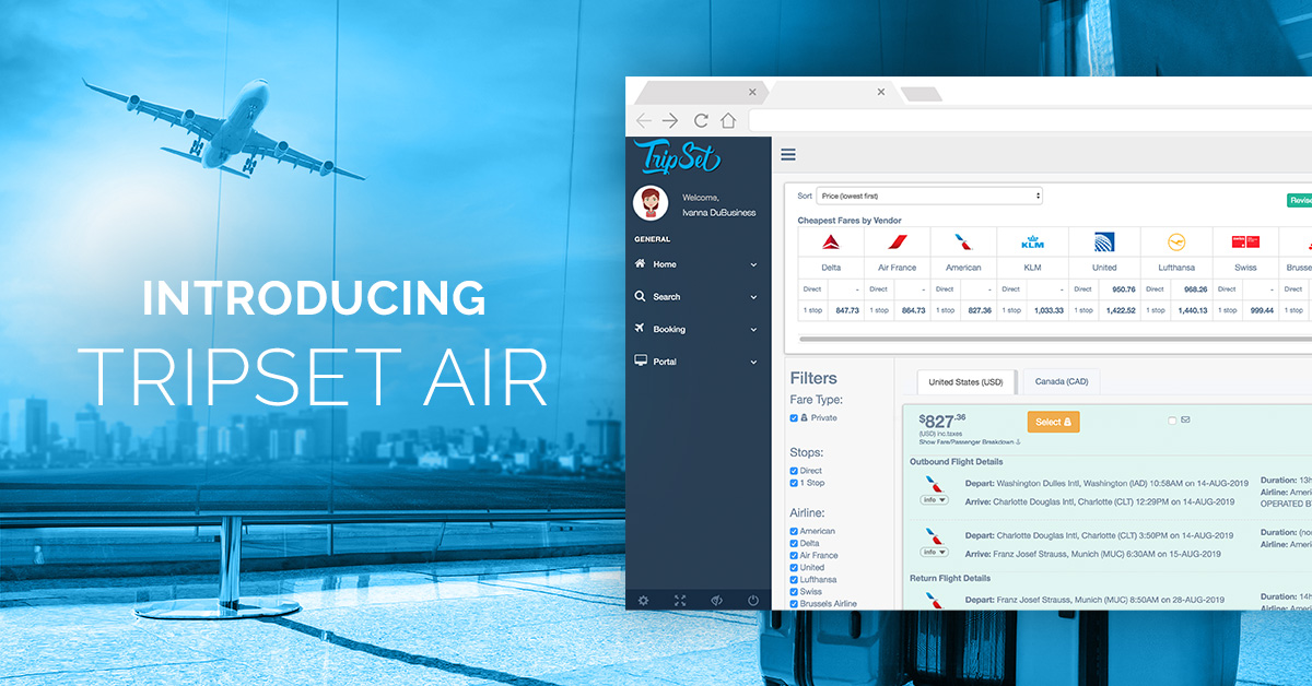 Introducing Commissionable and Private Airfares on TripSet.com