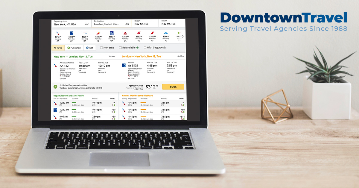 Discover the Best Booking Tool for Travel Agents by Downtown Travel